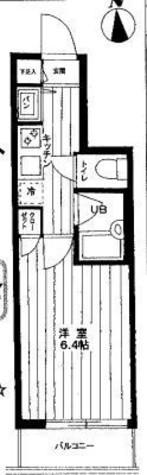 パレステュディオ御茶ノ水湯島駅前 / 6階 部屋画像1