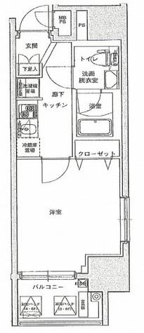 アイル東京リバーサイド / 2階 部屋画像1