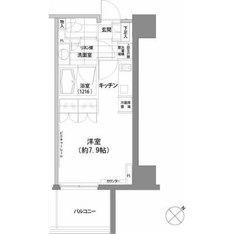 パークハビオ渋谷 / 6階 部屋画像1