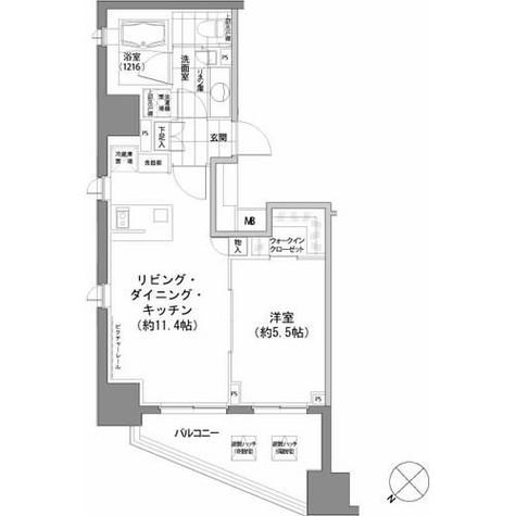 パークハビオ渋谷 / 601 部屋画像1