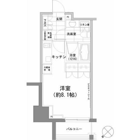 パークハビオ渋谷 / 1002 部屋画像1