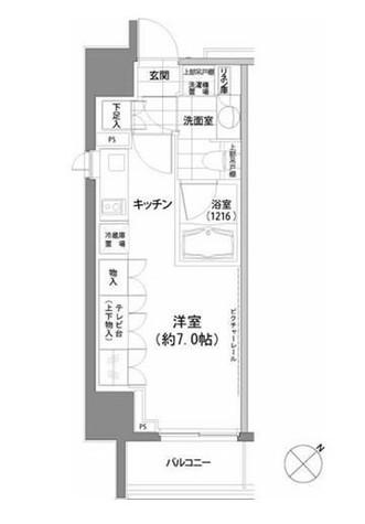 パークハビオ渋谷 / 1108 部屋画像1