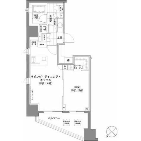 パークハビオ渋谷 / 312 部屋画像1