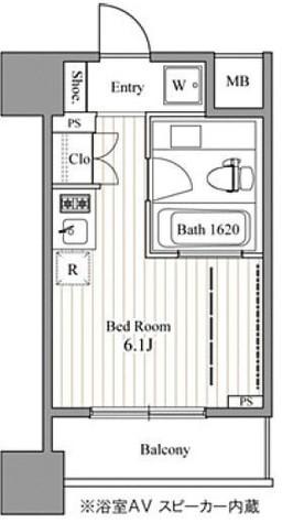 レジディア東銀座(旧アルティス東銀座) / 5階 部屋画像1