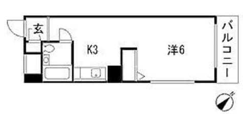 メゾンブランシュ(旧ワールドハイツ不動前) / 3階 部屋画像1