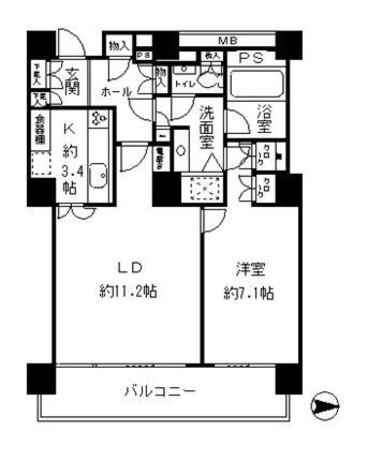 リバーポイントタワー / 21階 部屋画像1
