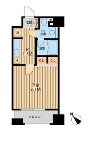 ピアネッタ汐留 / 2階 部屋画像1