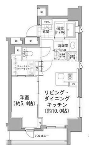 パークハビオ八丁堀 / 204 部屋画像1
