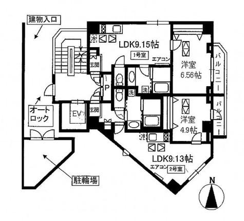 クム目黒五番館 / 2階 部屋画像1