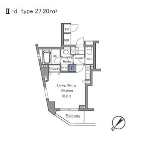セントラルクリブ六本木Ⅱ / 805 部屋画像1