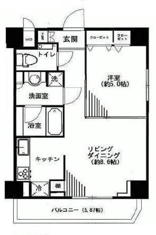 プレール・ドゥーク新御徒町 / 9階 部屋画像1
