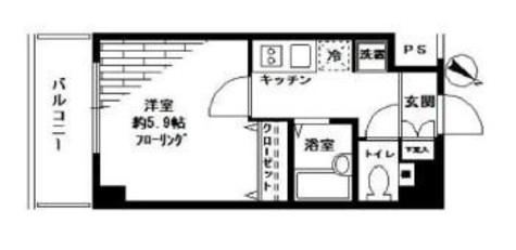 スカイコート文京茗荷谷 / 2階 部屋画像1
