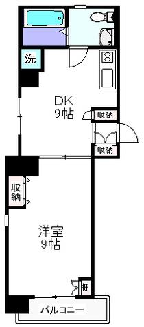 DK&洋室は各9帖で広々快適
