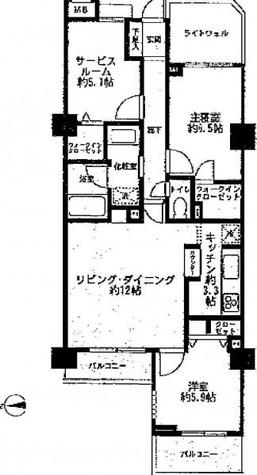 クレッセント目黒Ⅲ / 3階 部屋画像1