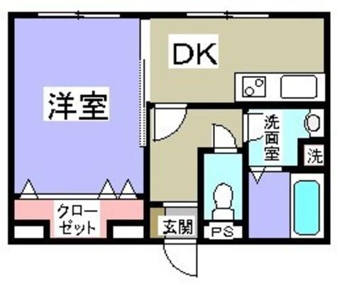 タテザワマンション / 3階 部屋画像1