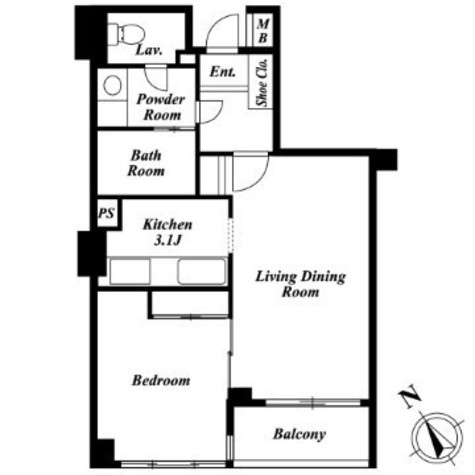 レジディア自由が丘 / 4階 部屋画像1