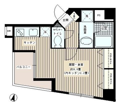 ウィステリアコート / 403 部屋画像1