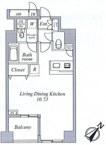 セントラルクリブ六本木Ⅱ / 1503 部屋画像1