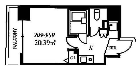 スカイコート銀座東 / 2階 部屋画像1