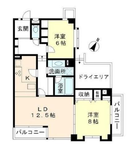 上野毛ステーションホーム / 2階 部屋画像1