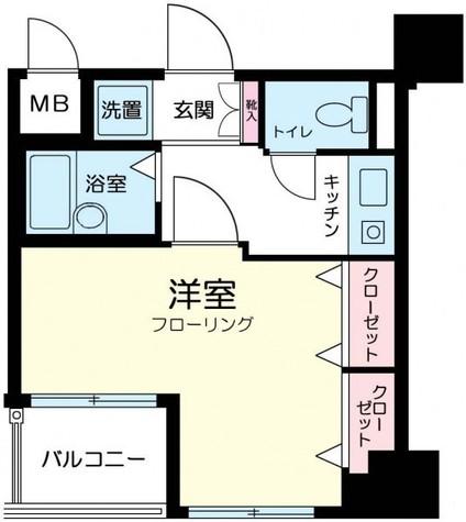 プレール市ヶ谷納戸町 / 4階 部屋画像1