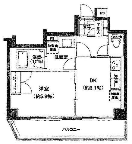 プライマル小石川 / 6階 部屋画像1
