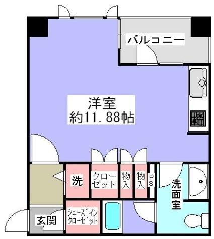 広々11.88帖のお部屋