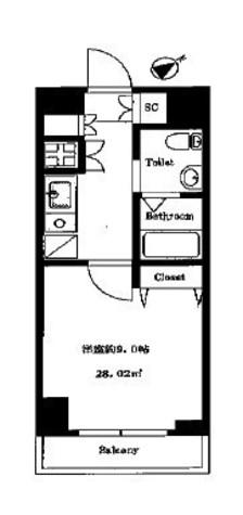 ライジングプレイス石川町 / 9階 部屋画像1