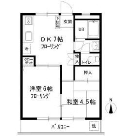 蒲田ハイツ / 3階 部屋画像1
