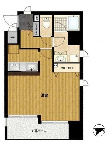 シーダム目黒 / 3階 部屋画像1