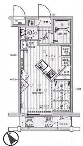 グランヴァン大井町Ⅱ / 6階 部屋画像1