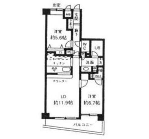 シルフィード南平台C / 2階 部屋画像1