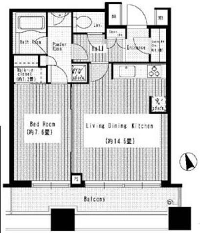 芝浦アイランドグローヴタワー / 1101 部屋画像1