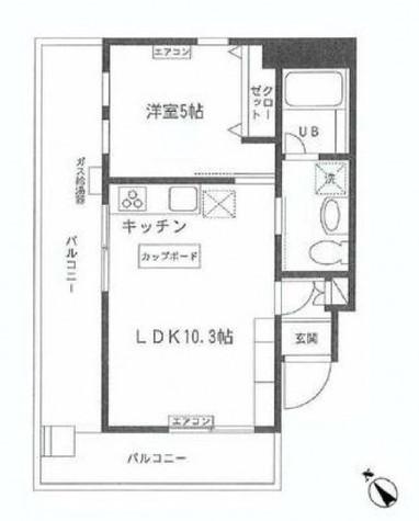 八幡ロイヤル / 501 部屋画像1