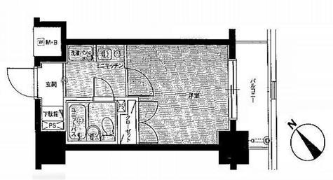 パレ・ドール月島 / 502 部屋画像1