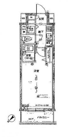 パークウェル銀座EAST / 602 部屋画像1
