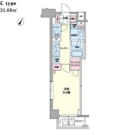 アーバンステージ日本橋浜町(旧エコロジー日本橋浜町公園レジデンス) / 14階 部屋画像1