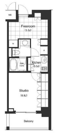 パークキューブ目黒タワー(旧アパートメンツタワー目黒) / 610 部屋画像1