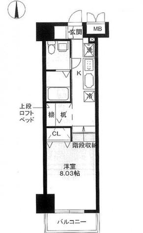 レジディア上野御徒町 / 2階 部屋画像1