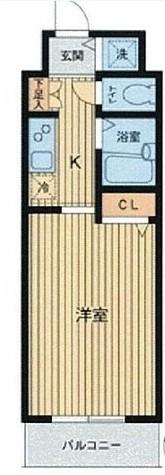 HF東神田レジデンス(旧エルミタージュ東神田) / 205 部屋画像1