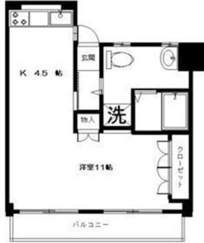 高輪グリーンマンション / 2階 部屋画像1