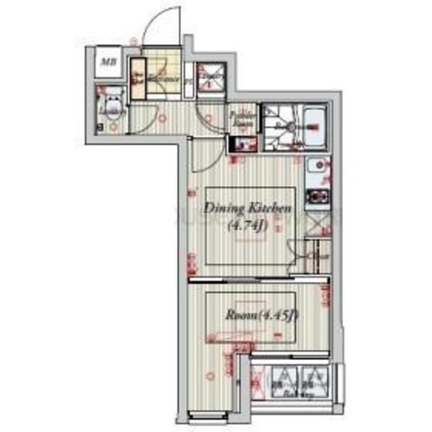 ビバリーホームズ目黒鷹番 / 2階 部屋画像1