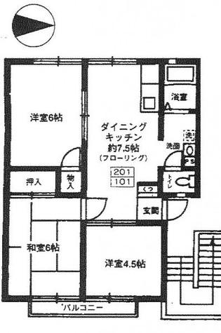 Mラフィーネ / 1階 部屋画像1