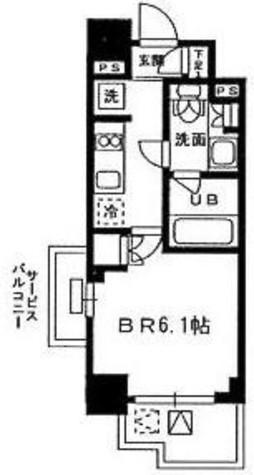 レジディア新宿イーストⅢ / 201 部屋画像1