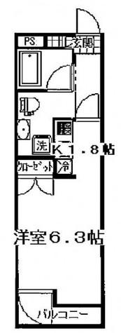 West4不動前 / 1階 部屋画像1