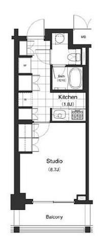 パークキューブ目黒タワー(旧アパートメンツタワー目黒) / 1階 部屋画像1