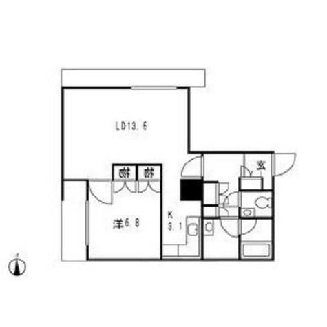 グランパークハイツ / 6階 部屋画像1