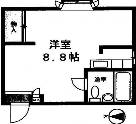 駒沢飯田ビル / 202 部屋画像1