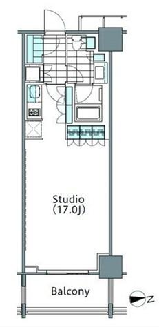 パークハビオ新宿イーストサイドタワー / 7階 部屋画像1