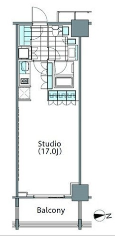 パークハビオ新宿イーストサイドタワー / 18階 部屋画像1